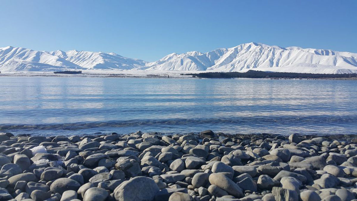 Lake Shoreline Winter South Island