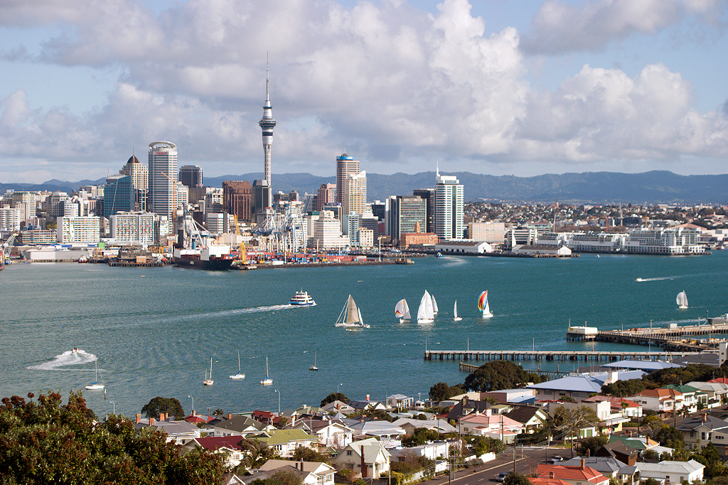 Skyline of Auckland