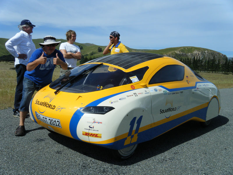Solar Car onlocation in NZ, DOP: Ben Ruffel, Director: Peter Keil, Location Manager: Graham Thompson