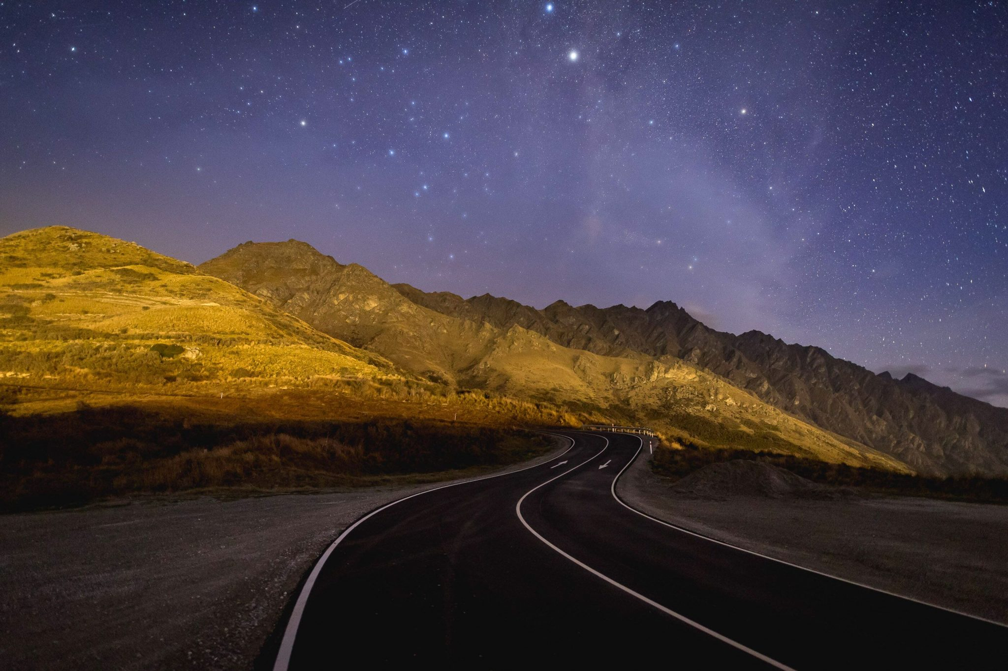 Otago Roads at night